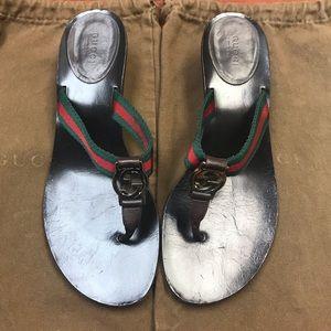 Gucci sandal kitten heels